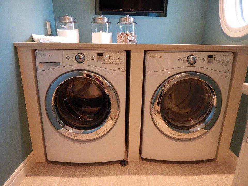 Máquina De Lavar Roupa, Secador, Lavandaria, Aparelho