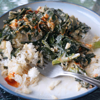 Collards With Coconut And Peanut Butter.