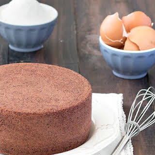 Chocolate Italian Sponge Cake.