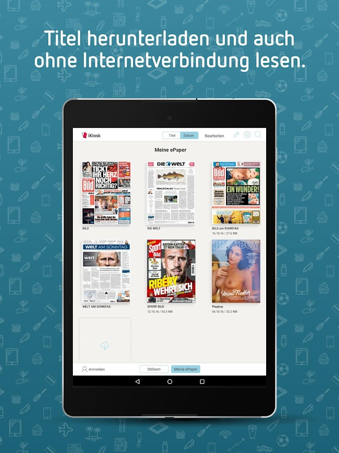 iKiosk | Newspapers, Magazines- screenshot