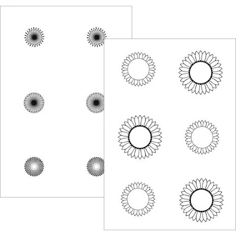 Gina K Designs StampnFoil Detail Sheets 10/Pkg - Graphic Sunflowers