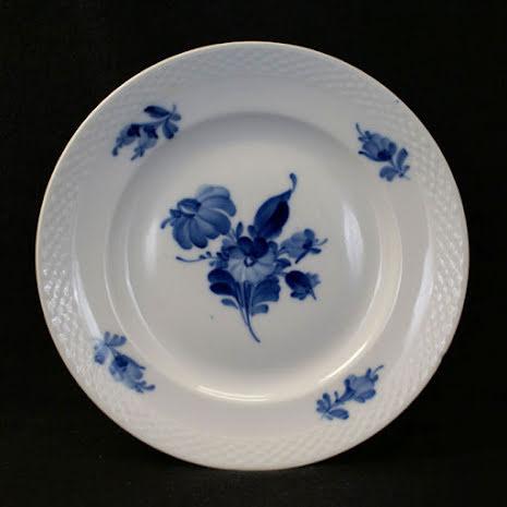 Blå Blomst - flettet Assiett 19 cm