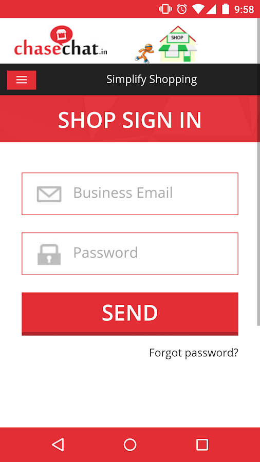 Shop Management : ChaseChat.in- screenshot