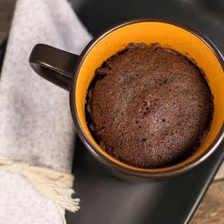 5 Minute Fudgy Chocolate Mug Cake.