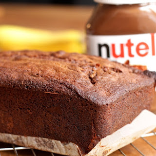 Nutella Banana Loaf Cake.
