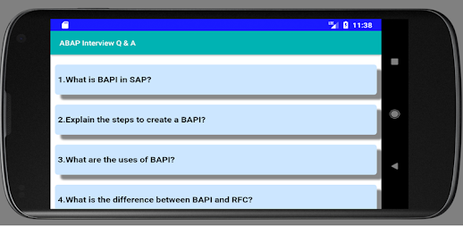 SAP ABAP Interview Question and Answer APK