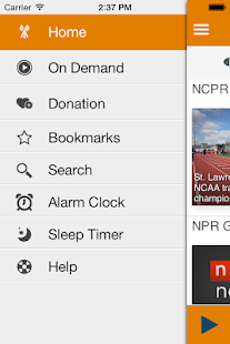 NCPR Public Radio App- screenshot thumbnail