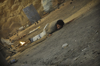 Photo: Actor: Asser Yassin On the set of Rags & Tatters - Cairo 2013