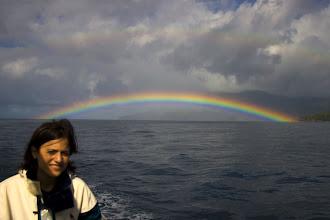 Photo: Gökkuşağından taç yaptık Pınar'a. Rainbow crown for Pinar.