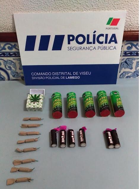 Detenção por posse e deflagração de engenhos pirotécnicos - Lamego
