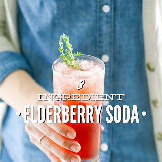 3-Ingredient Elderberry Soda
