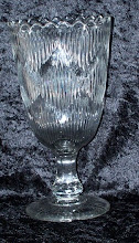 Photo: This vase has the diamond registration mark to the base, which read the left side is 7 the right side is V the base is an M and the top is a 30 This gives the reg mark of number 301579  The vase was first registered on the 30th June 1876 by the Glassworks Percival Vickers & Co