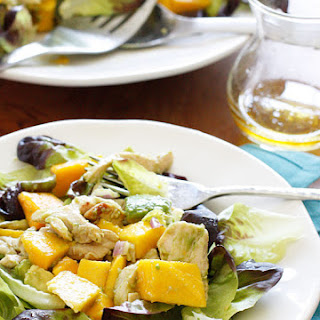 California Grilled Chicken Avocado and Mango Salad.