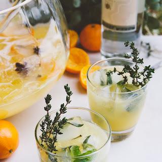 White Wine, Clementine & Vanilla Pitcher Cocktail.