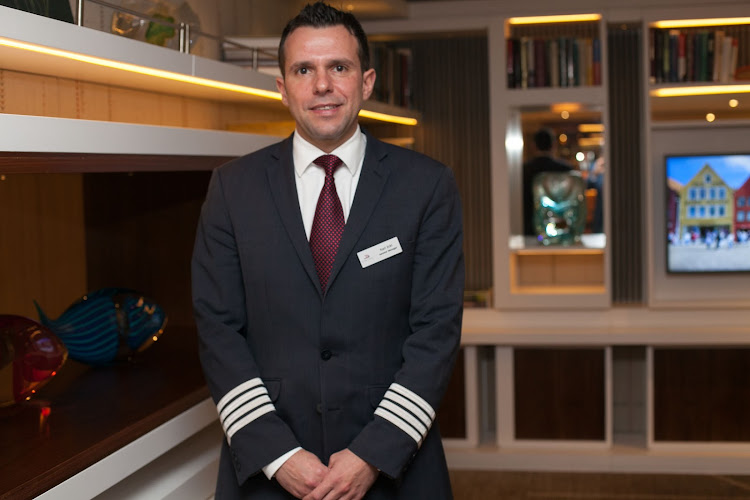Viking Star General Manager Karl Eckl in the Living Room of Viking Star.
