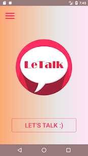LeTalk - Find someone to talk anonymously - náhled