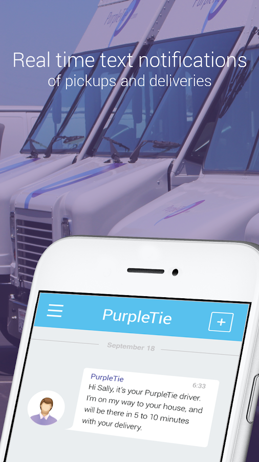 PurpleTie - dry cleaning and laundry delivery- screenshot