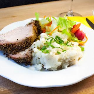 Lemon and Garlic Crusted Pork Rib Roast