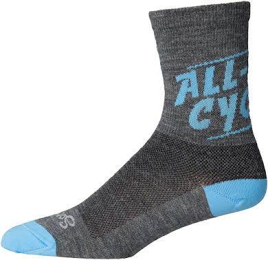 All-City Cali Wool Sock: Gray/Blue alternate image 1