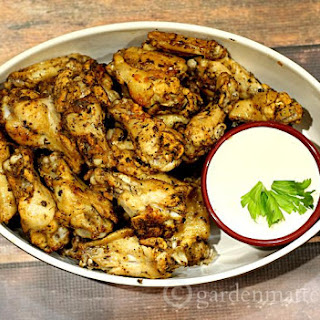 Baked Wings with Citrus Spice Rub.