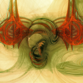 Fractalscape by Juliusz Wilczynski - Digital Art Abstract
