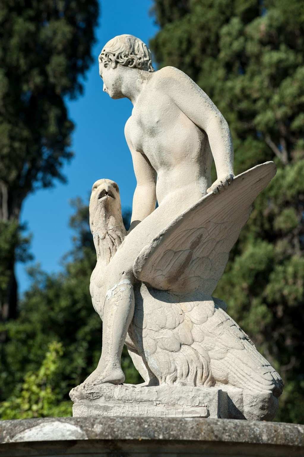 Ganimede statue in the Boboli garden, Florence