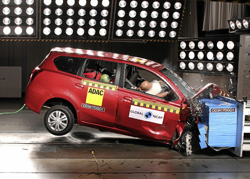 There are many companies providing the Datsun Go+ for employees to drive, showing a lack of concern for employees safety. Picture: GLOBAL NCAP
