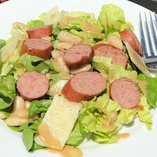 Grilled Kielbasa and Warm Mustard Vinaigrette Salad #SundaySupper.