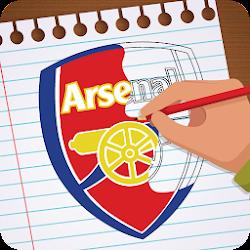 Draw real football logo 2018