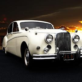Jag by JEFFREY LORBER - Transportation Automobiles ( rust 'n chrome, 1950's, jaguyar, lorberphoto, sedan, luxury sedan )