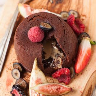 Chocolate Peanut Butter Lava Cakes.