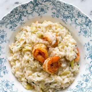 Artichoke and Shrimp Risotto.