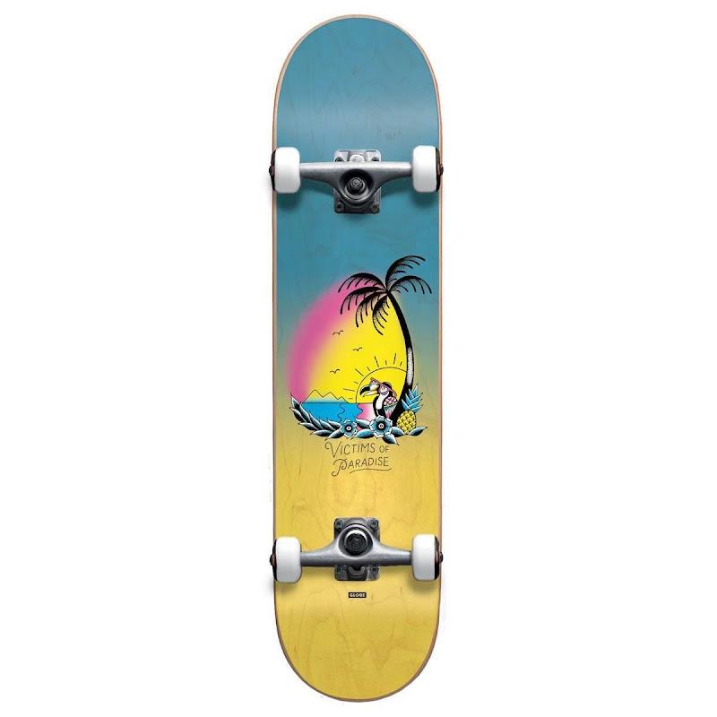 skateboard - Globe Victims of Paradise Micro Blue Fade Dye 6.5