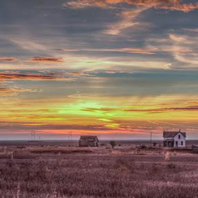 Norton Sunset by Jim Talbert - Landscapes Sunsets & Sunrises ( sky, hdr, nature, landscape, landscapes, kansas )