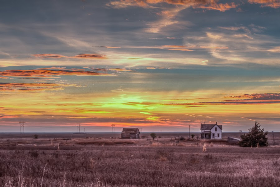 Norton Sunset by Jim Talbert - Landscapes Sunsets & Sunrises ( sky, hdr, nature, landscape, landscapes, kansas )