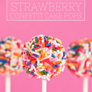 Strawberry Confetti Cake Pops