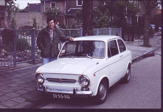 Photo: John Wilson and his '72 clunker,, cost 200 gilders. Worked perfect , wish I still owned it, it is a collectors item now..          (k0ip)