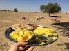 India. Rajasthan Thar Desert Camel Trek. Rajasthani Lunch in the Thar Desert
