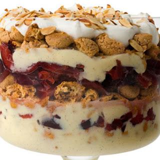 Pluot-Amaretti Trifle
