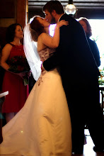 Photo: Tablerock Mountain Lodge - 1st kiss! - 10/09 - photo courtesy Sarah & Paul: http://PhotoDayBliss.comBrenda M. Owen - Wedding Officiant - http://WeddingWoman.net