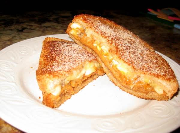 Fried Peanut Butter And Banana Sandwich
