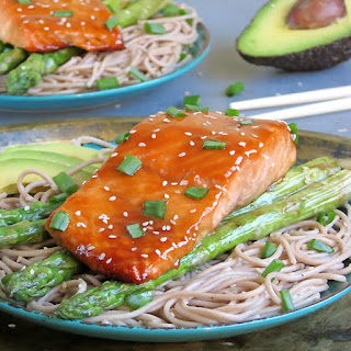 Baked Teriyaki Salmon With Soba Noodles