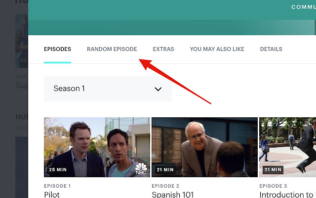 Hulu Random Episode Button