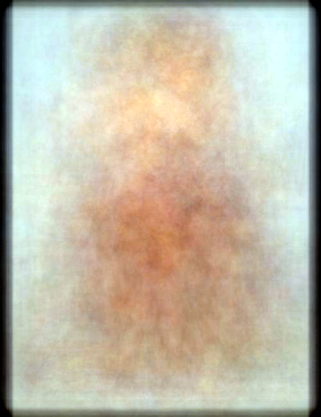 Photo: A broad selection of Elvgren pinup paintings, mean averaged.