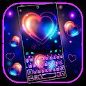 Bright Neon Heart Keyboard Theme icon