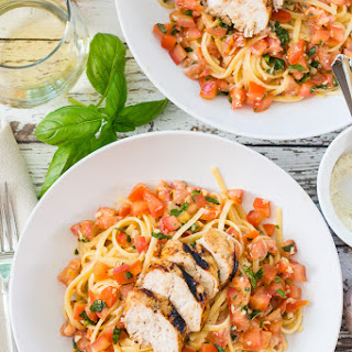 Chicken Bruschetta Linguine.