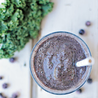Blueberry Kale Smoothie.