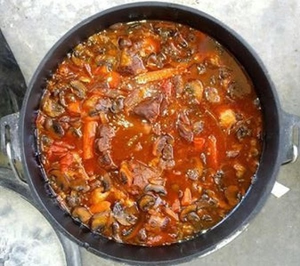 Remove from heat, serve out of the Dutch oven or transfer to large serving...