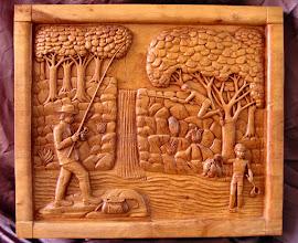 Photo: Tamaño: 64 x 74 cm. || Talla en madera. Woodcarving.   Puedes conocer más de este artista en el blog: http://tallaenmadera-woodcarving-esculturas.blogspot.com/