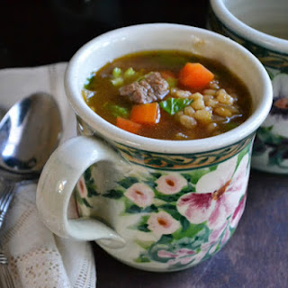 Luxurious Beef Barley Soup.